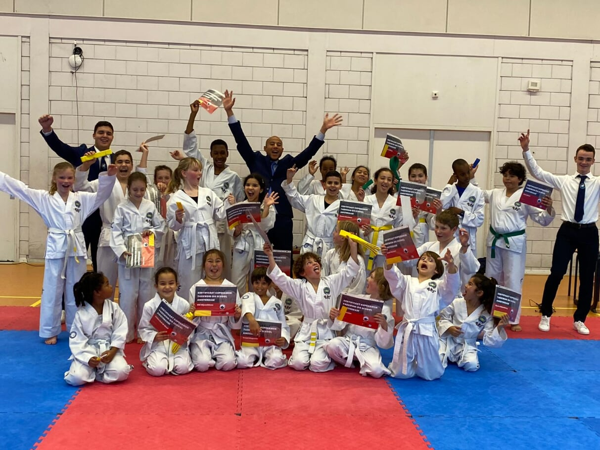 examens jeugd taekwon-do school amsterdam