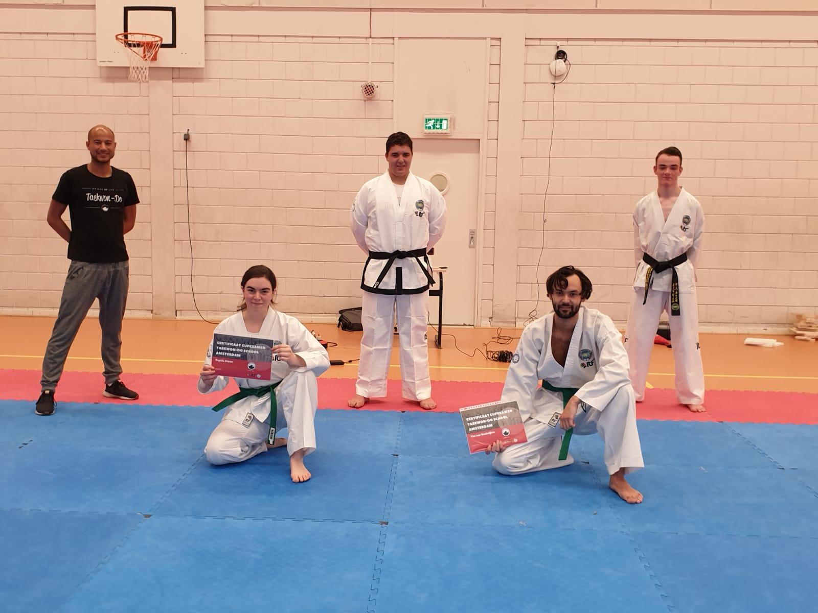 examens senioren taekwon-do school amsterdam